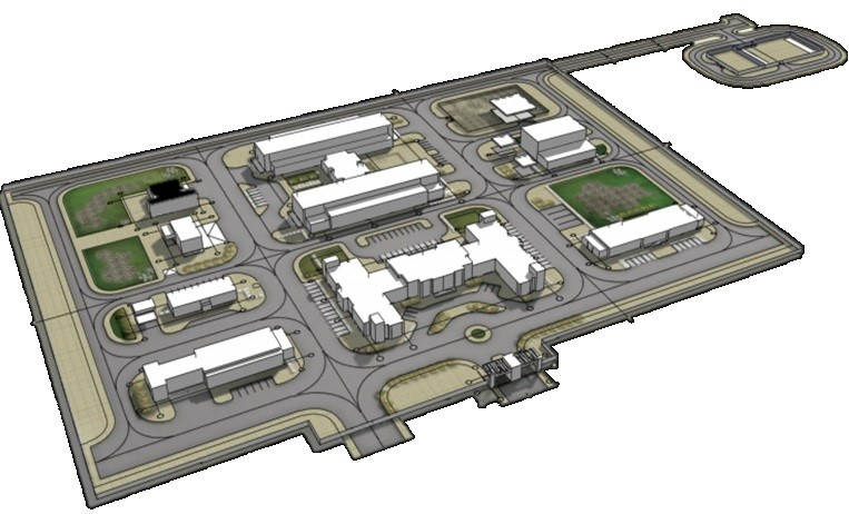 Perspective Drawing of ADCO Administration Complex