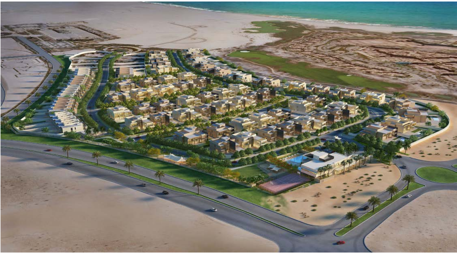 Perspective Drawing of Jawaher Saadiyat Beach Villas