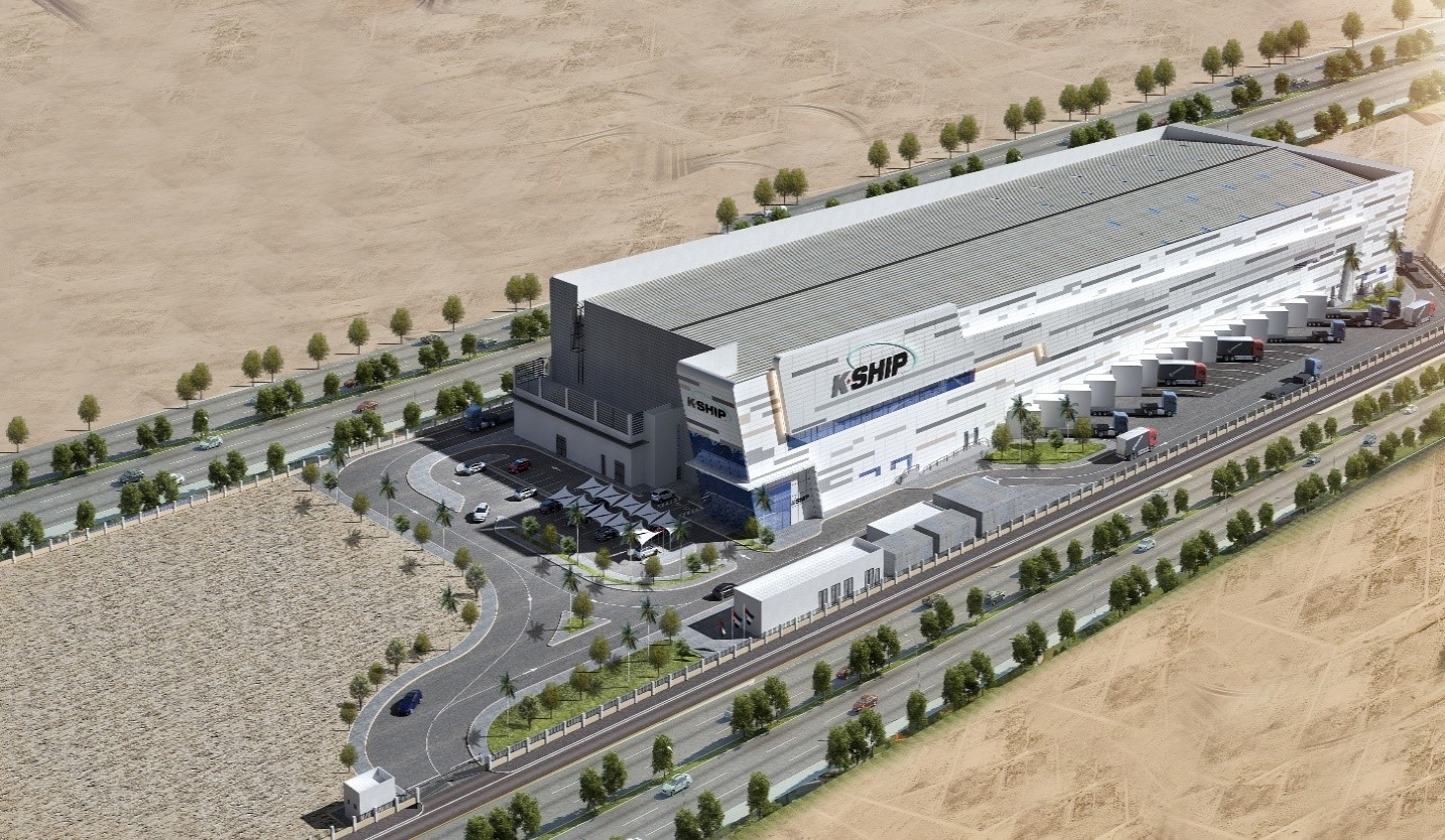 Perspective Drawing of Al Khalidyya International Shipping – Branch Warehouse