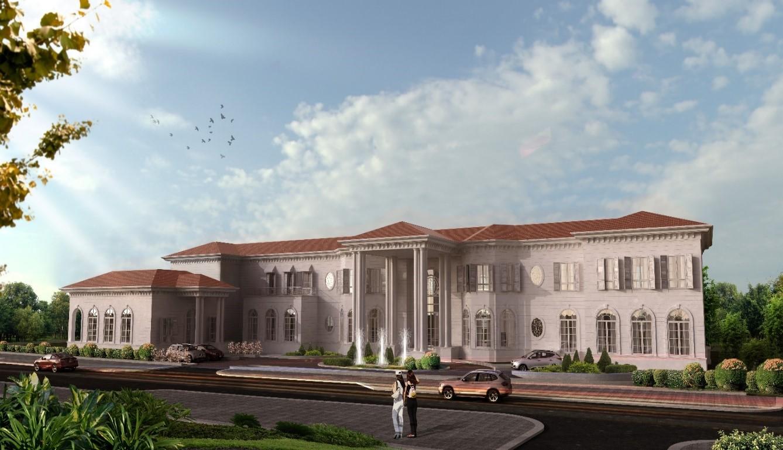 Perspective Drawing of Omar Abdul Aziz Mubarak Al Mubarak VIP Villa
